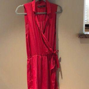 Zara silk wrap dress